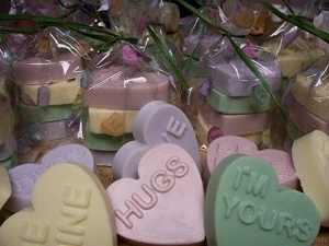 Conversation Heart Soap Goat Milk Soap